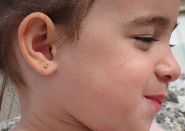 pendientes bola oro Top 10 pendientes baratos bebe niña rosca seguridad oreja