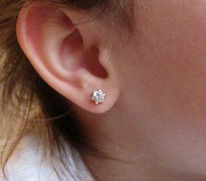 en la oreja pendientes 6 garras circonita oro blanco plata niña bebe recien nacida pequeña tuerca aretes hipoalergénicos rosca