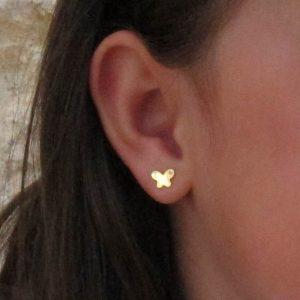 Pendientes Oro Mariposa Niña