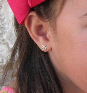 pendientes niña oro bebe mujer rosca seguridad tuerca hipoalergénicos aretes en la oreja