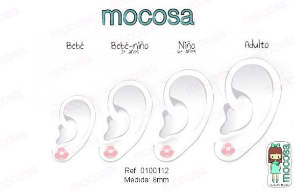 plata en la oreja pendientes de 8 mm pendientes mamá plata niña bebe rosca no alergia regalo moda mocosa flor