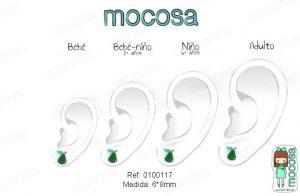 plata oreja en la pendientes niña rosca comodos forrados diferentes regalo moda mocosa pera hipoalergénicos aretes