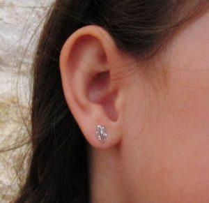 pendientes plata cactus baratos rosca niña regalo hipoalergénico aretes tuercas en la oreja
