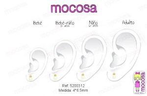 perla oreja pendientes oro niña bebe rosca 18k diferentes regalo moda diferente mocosa bola hipoalergénico en la oreja pequeña