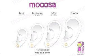 perla flor en la oreja pendientes oro 18k pequeñas niña bebe hipoalergénicos aretes rosca tuerca mujer
