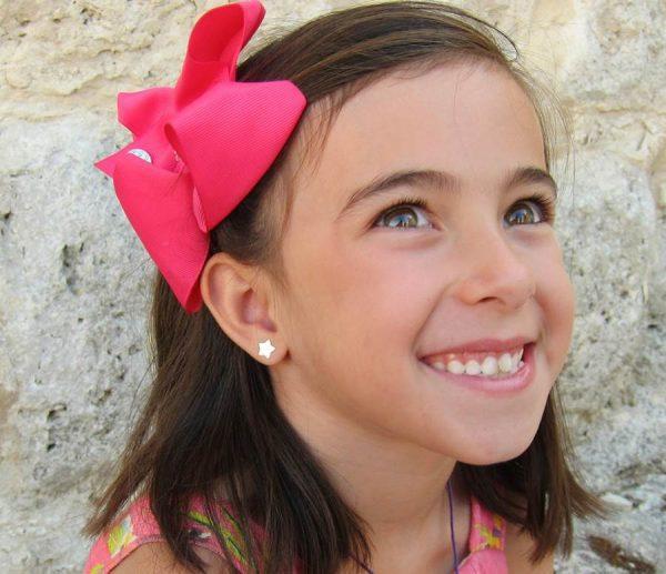 pendientes estrella oro rosca seguridad niña regalo tuerca rosca mujer hipoalergenico arete en la oreja
