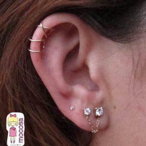 Piercing Ear Cuff Paralelo