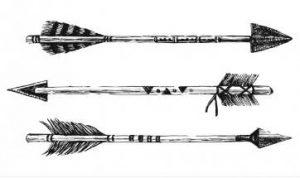 flechas para diseño de pendientes niña mujer joven