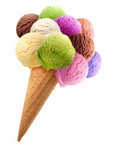 helado colorido inspiracion pendientes plata