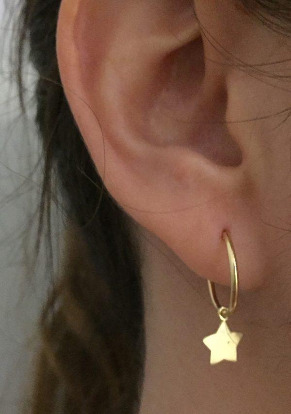 pendiente aro colgante estrella oro conjunto mocosa joven moda oreja