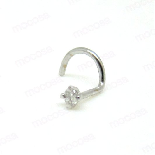 Piercing oro blanco Brillante