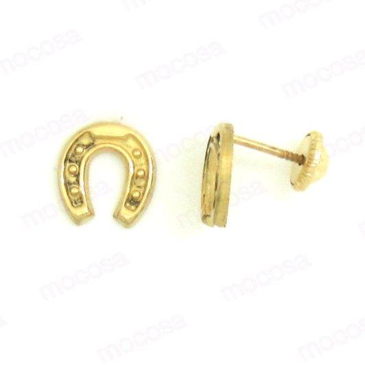 Pendientes oro herradura grande