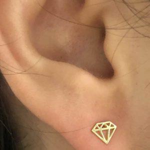 Pendientes oro diamante
