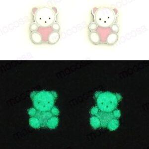 pendientes Osos shainy pendientes brillan fluorescentes regalo original para niña